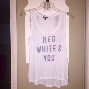 Express Red Whit & You Tank XS